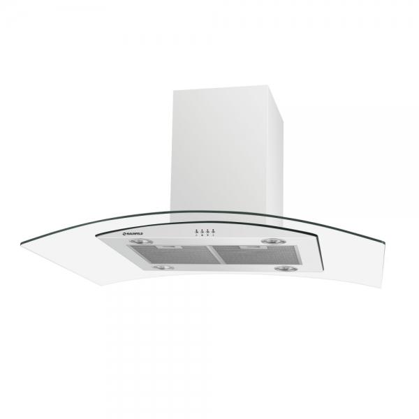 Кухонная вытяжка MAUNFELD Ancona PlusA Isla 90 белый/прозрачное стекло